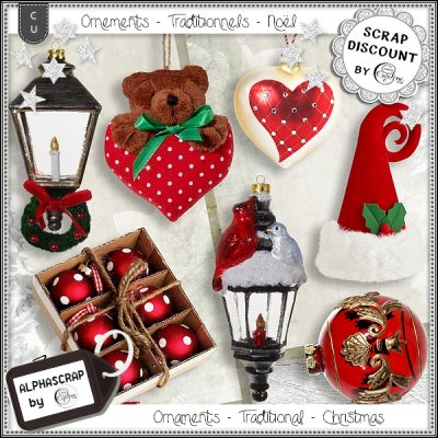 Ornaments - Traditional - Christmas 4