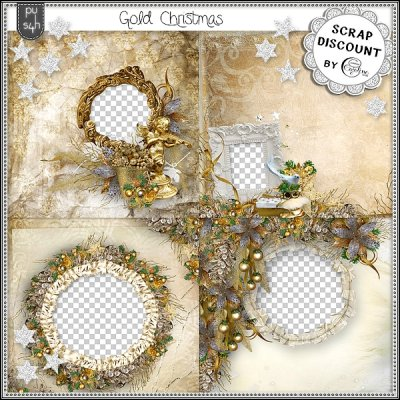 Gold Christmas - quick pages
