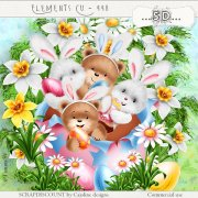 Elements cu - 448 Easter bunnies and bear cubs