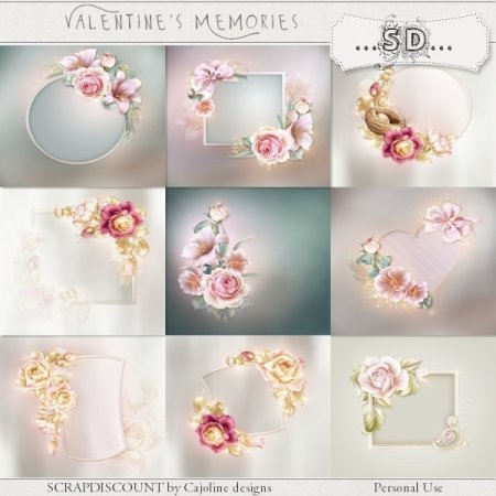 Valentine's memories - stacked papers