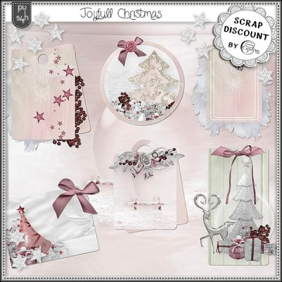 Joyfull Christmas - tags