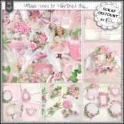 Vintage roses for Valentine's day (PU/S4H) full size kit