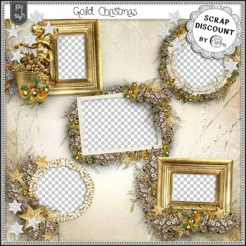Gold Christmas - clusters