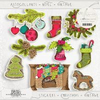 Stickers - Christmas - Vintage 3