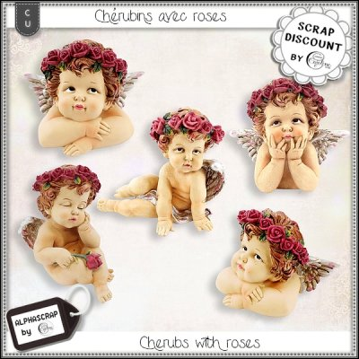 Cherubs with roses