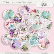 Pretty flowers for Mom - Buttons