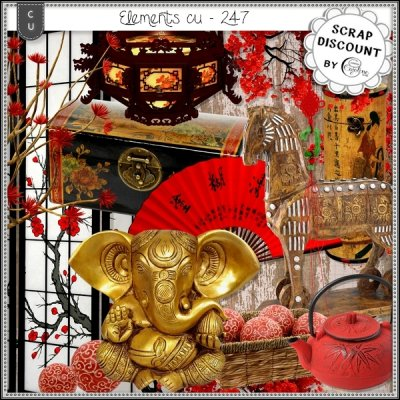 Elements CU - 247 Inspiration asiatique