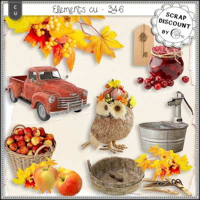 Elements CU - 346 La ferme en automne