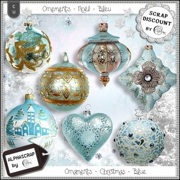 Ornaments - Christmas - Blue