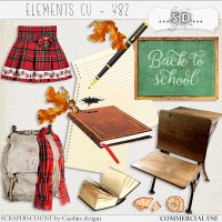 Elements cu - 482 Vintage back to school