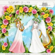 Elements cu - 436 Flowers and angels in spring