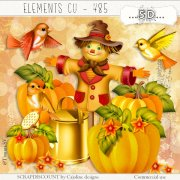 Elements cu - 485 A scarecrow in the pumkins
