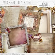 Autumnal flea market - stacked papers