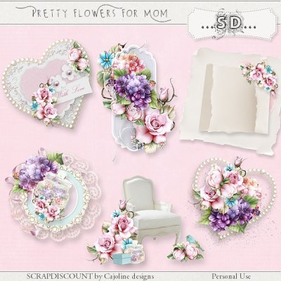 Pretty flowers for Mom - embellissements
