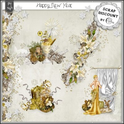 Happy New-Year - embellishments