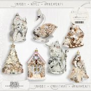 Shabby - Christmas - Ornaments