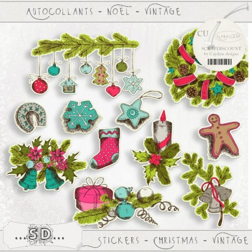 Stickers - Christmas - Vintage 2