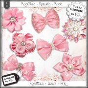 Bows - Rosettes - Pink 2