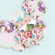 Pretty flowers for Mom - embellishments