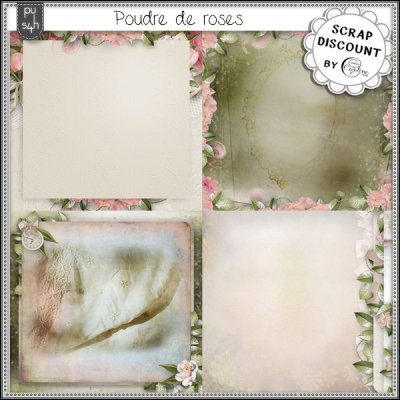 Poudre de roses - stacked papers