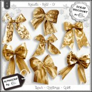 Bows - Christmas - Gold