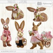Easter - Rabbits - Natural sisal 1