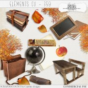 Elements CU - 359 Vintage school supplies