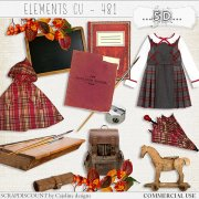 Elements cu - 481 Vintage back to school