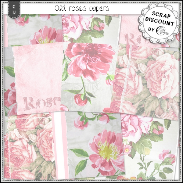 Old roses papers