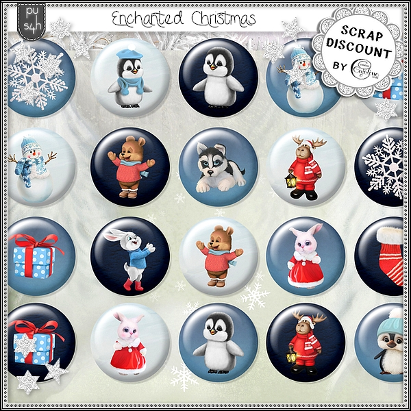 Enchanted Christmas - boutons