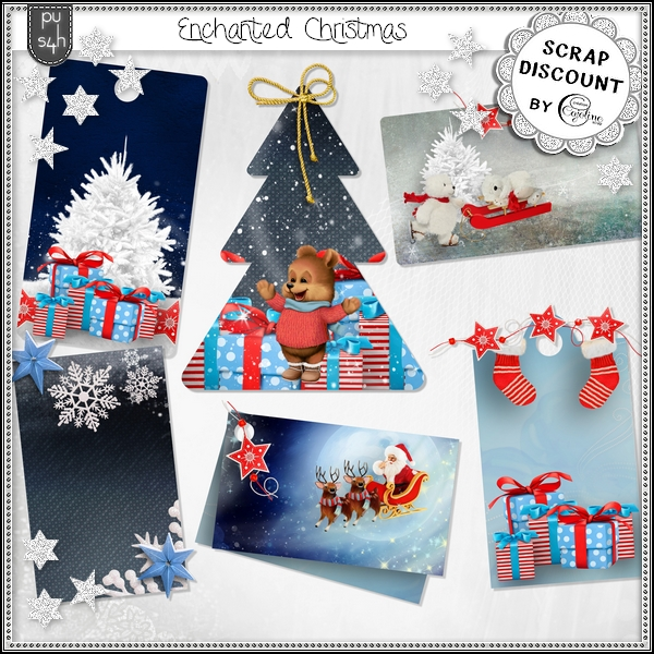 Enchanted Christmas - Tags - Click Image to Close