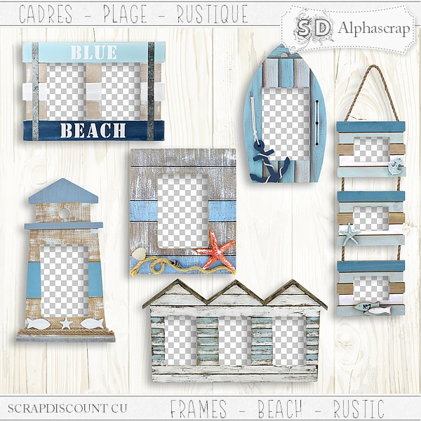 Frames - Beach - Sea - Summer - Distressed 2