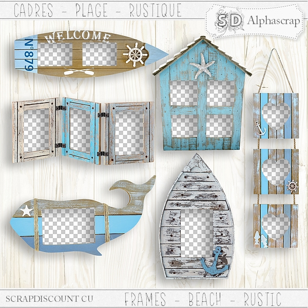 Frames - Beach - Sea - Summer - Distressed 3