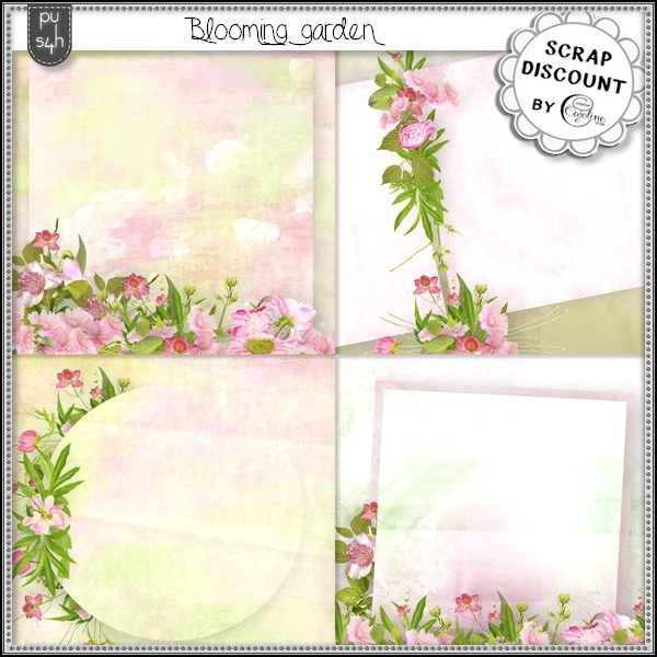 Blooming garden - stacked papers