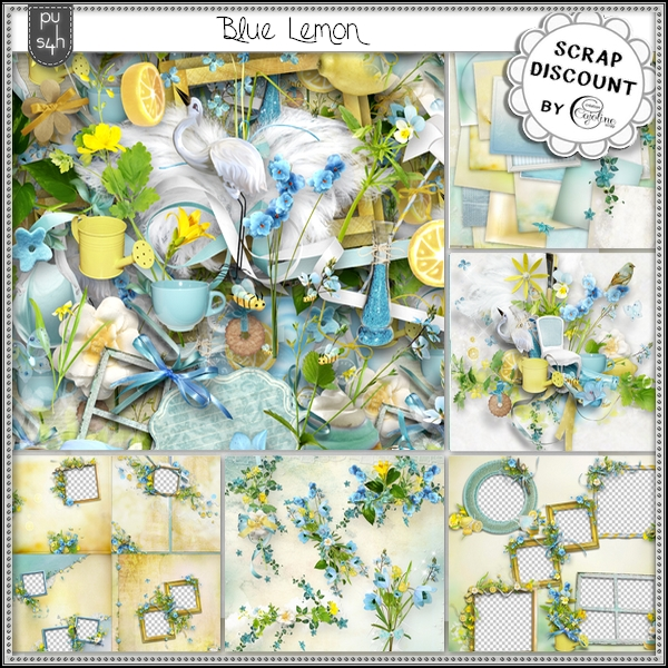 Blue lemon - borders - Click Image to Close