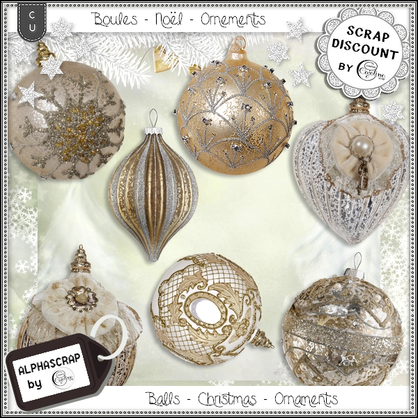 Ornaments - Balls - Christmas 1