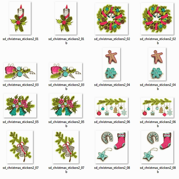 Stickers - Christmas - Vintage 2 - Click Image to Close