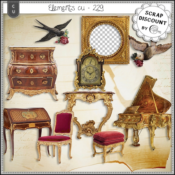 Elements CU - 229 Ameublement baroque et rococo