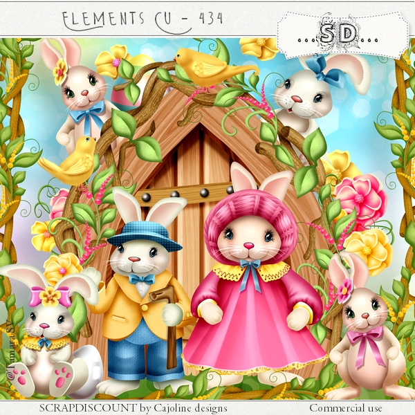 Elements cu - 434 Easter bunny family