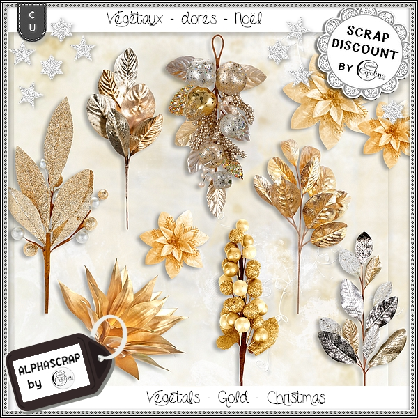 Vegetals - Gold - Christmas - New Year 3 - Click Image to Close