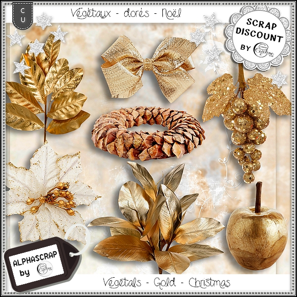 Vegetals - Gold - Christmas - New Year 1