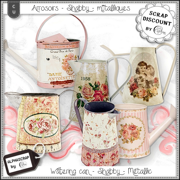 Arrosoirs - Metal - Shabby