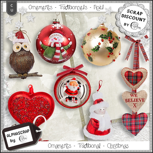 Ornaments - Traditional - Christmas 1