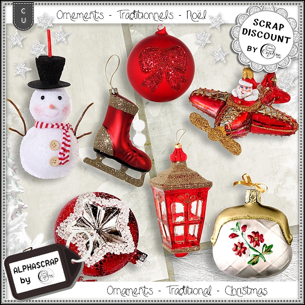 Ornaments - Traditional - Christmas 3