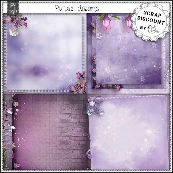 Purple dreams - stacked papers