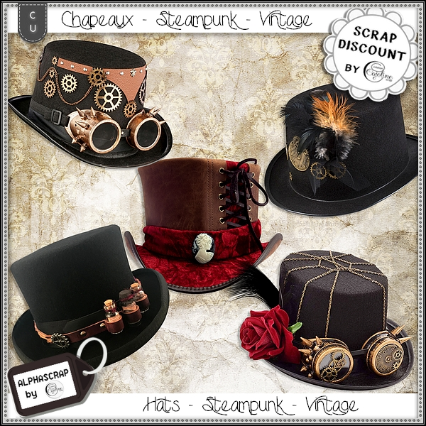 Hats - Steampunk - Vintage 1