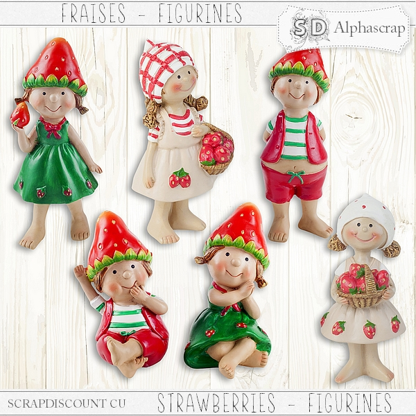 Strawberries- Figurines 2