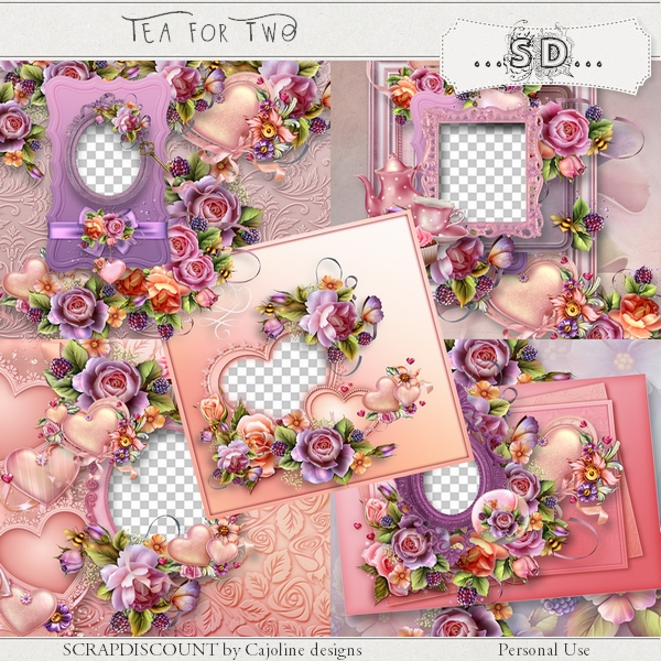 Tea for two - embellisments - Click Image to Close