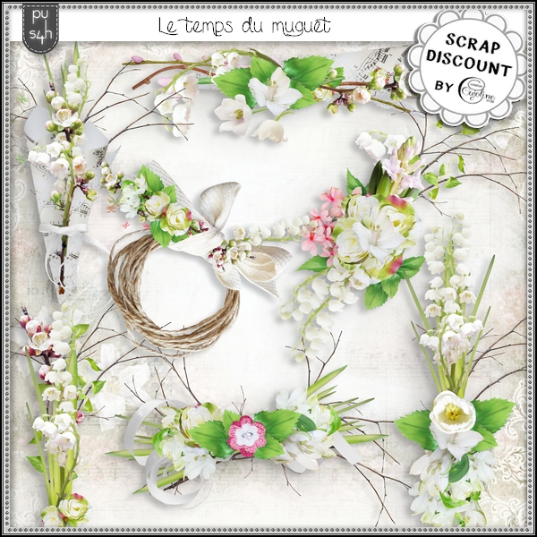 Le temps du muguet - embellishments - Click Image to Close
