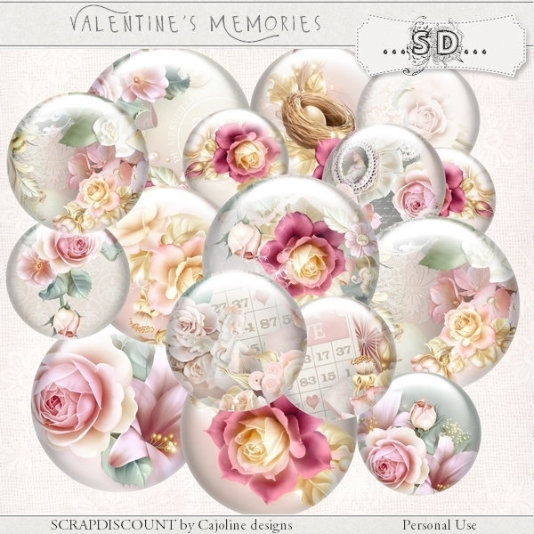 Valentine's memories - embellishments - Click Image to Close